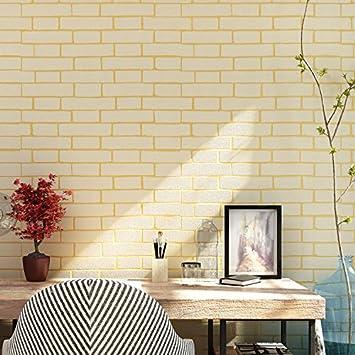 Imitation Brique Et Carrelage Blanc Brique Motif Papier Peint Blanc