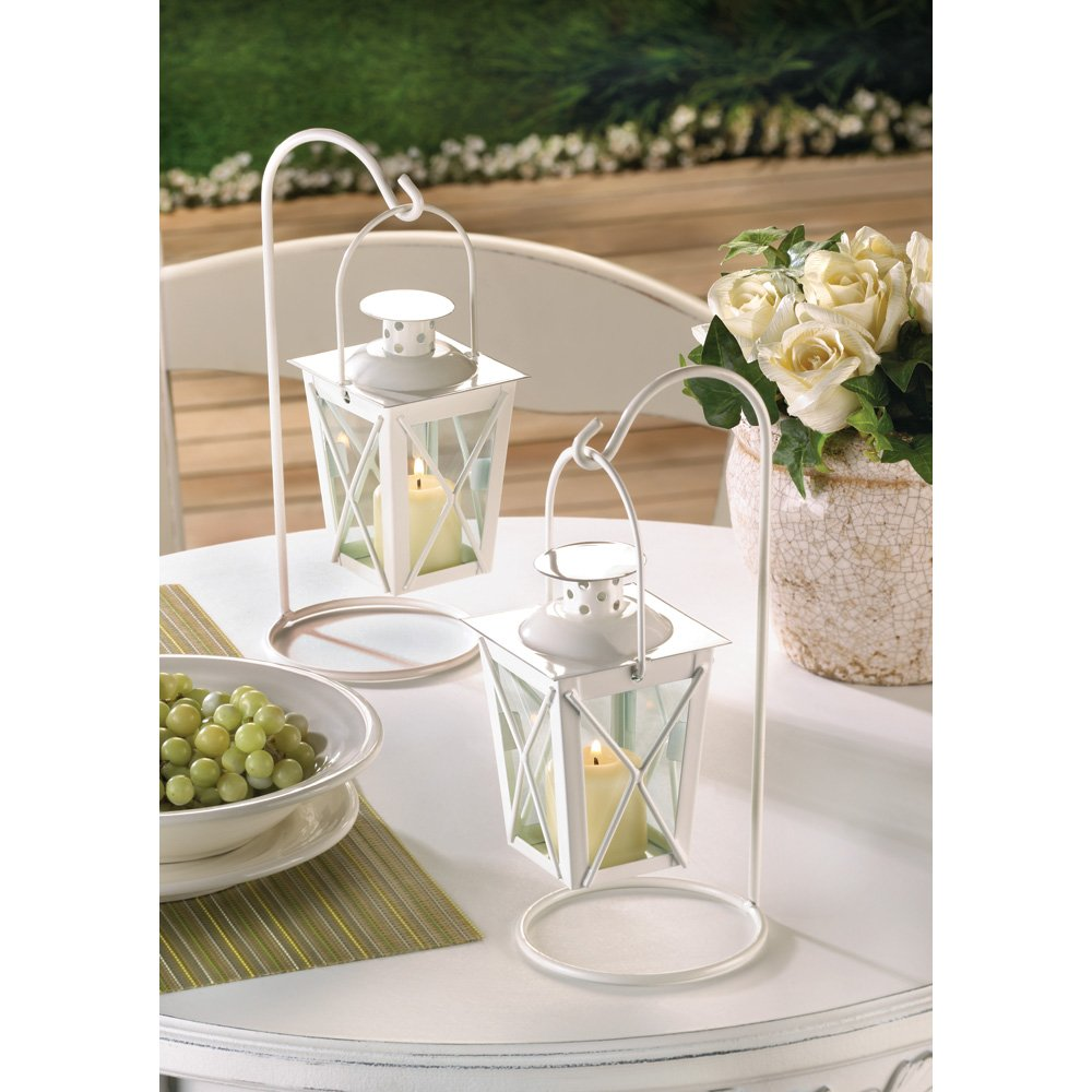Amazon.com : 20 WHITE WEDDING LANTERN CENTERPIECES FAVORS NEW : Mini ...