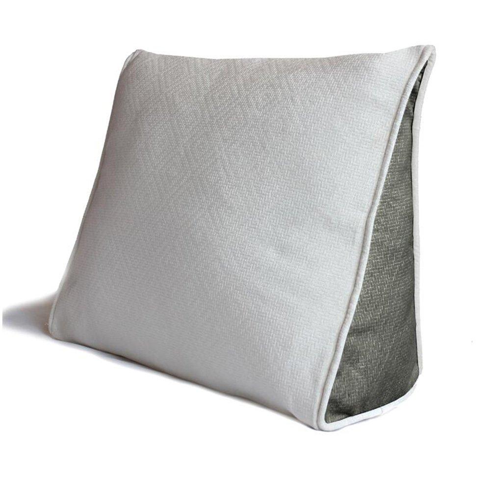 CJC cuscini Federa Tessile Indietro Cuneo Cuscino Divano Letto Ufficio Sedia riposo Supporto Gettare Cuscino (colore   T15, dimensioni   45x40x15cm)