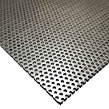 Online Metal Supply Steel Perforated Sheet, Thickness: 0.036 (20 ga.), Width: 12'', Length: 12'', Hole Size: 0.045'', Staggered 0.088''
