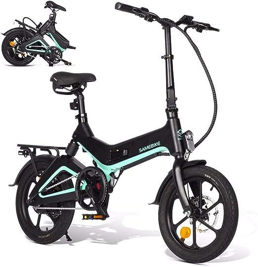 XCBY EléCtrico Bicicleta, Bicicleta EléCtrica Plegable - Motor ...