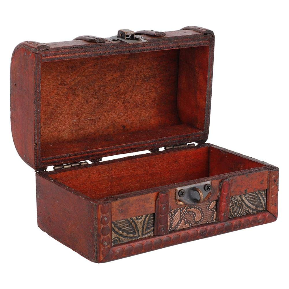 Vintage Jewelry Storage Box Wooden Jewelry Organizer Storage Box Coded Lock Gift Decoration Box
