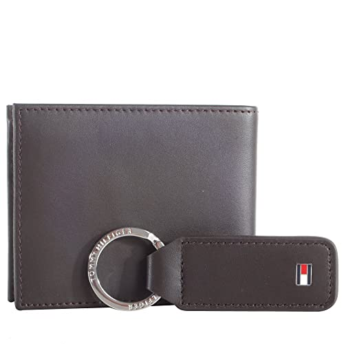 TOMMY HILFIGER Eton Mini CC Wallet Veneno Box Brown: Amazon ...