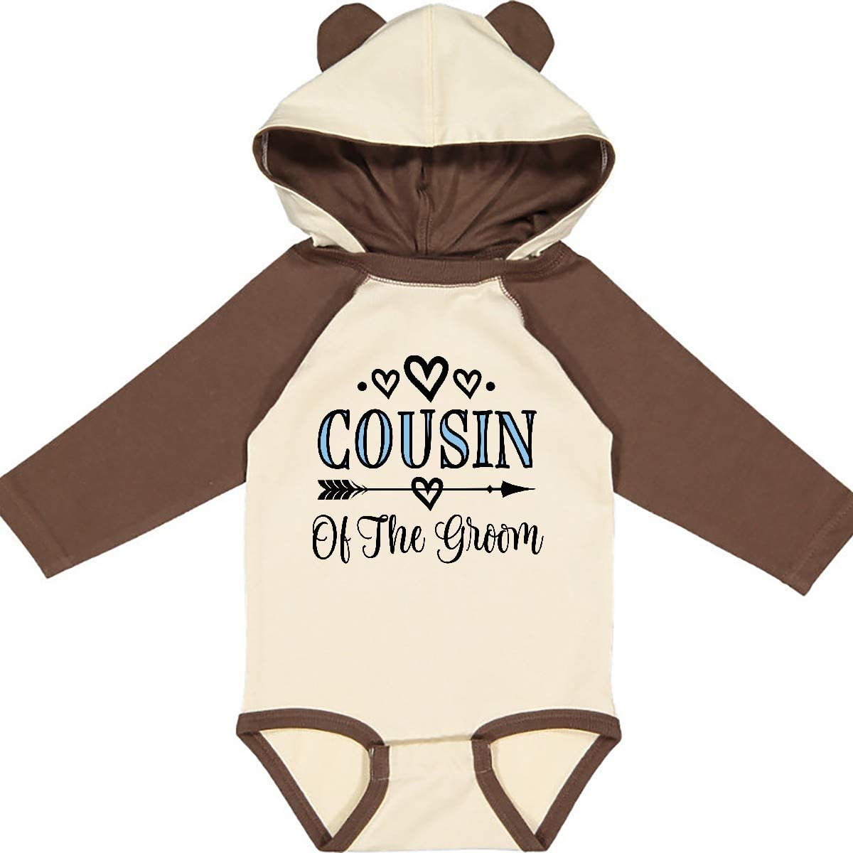 inktastic Cousin of The Groom Wedding Party Long Sleeve Creeper