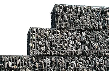 Stein Gabione Zaun 50 X 50 X 30 Cm Steinkorb Mauer Sichtschutz