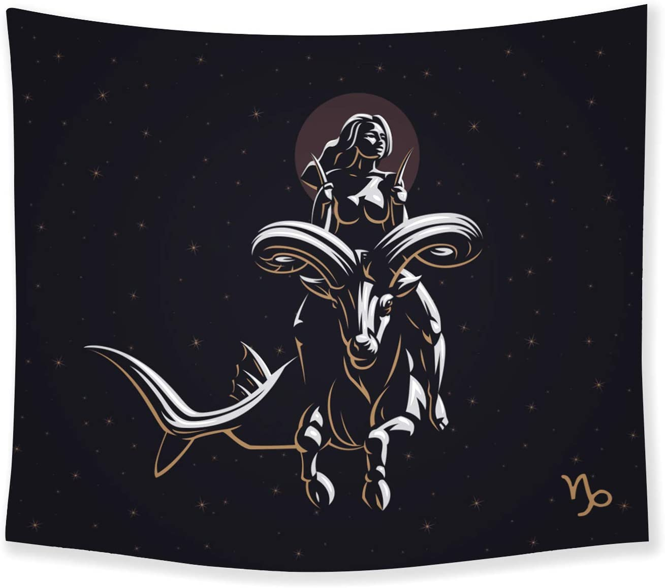 THE UNIVERSAL SIGNS Astrology Horoscope Zodiac Tapestry Decor Wall Hanging (Capricorn) Blanket Bedspread Beach Towels Picnic Mat Home Decor