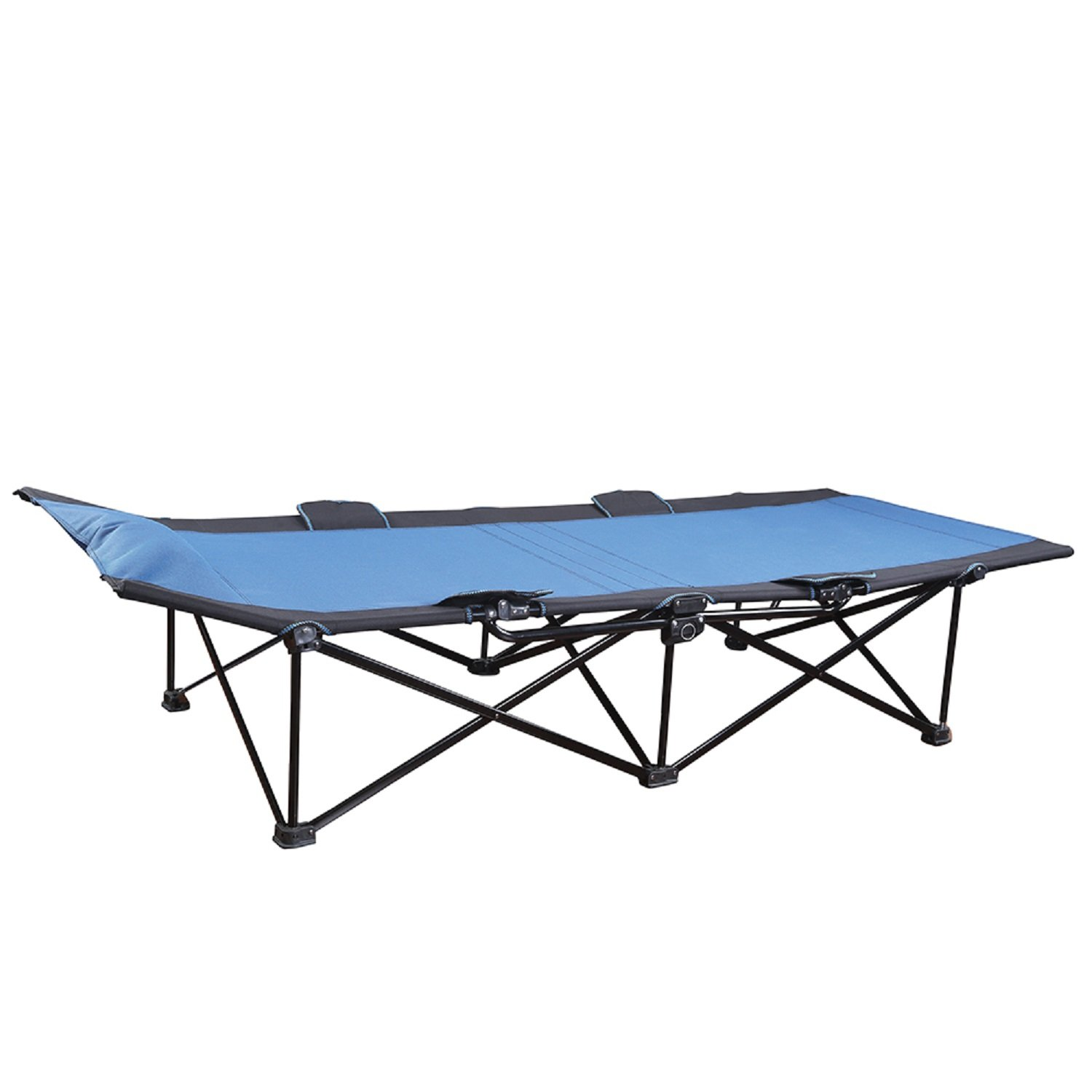 Stansport One-Step Deluxe Cot Blue