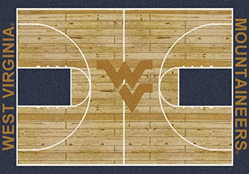 (American Floor Mats West Virginia Mountaineers NCAA College Home Court Team Area Rug 10'9