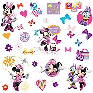 Minnie Mouse - Pegatinas para pared y cristal (RMK1666SCS)