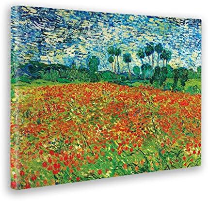Giallobus - Cuadro - Impresion EN Lienzo - Vincent Van Gogh - Campo DE Amapola - 70 x 100 CM