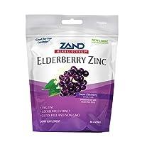 Zand HerbaLozenge Elderberry Zinc | Good-for-You Lozenges for Dry Throats | No Corn...