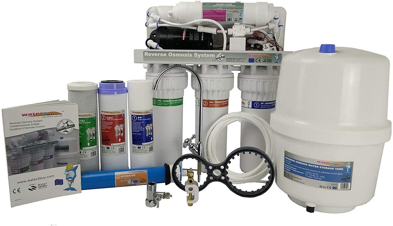 Water2buy Umkehrosmose RO600   5-stufige Umkehrosmoseanlage mit Pumpe: Amazon.de: Alle Produkte - Osmoseanlage kaufen