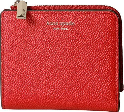 Kate Spade New York Women's Margaux Small Bifold Wallet, Hot Chili, Red, One Size - Snap Bi Fold