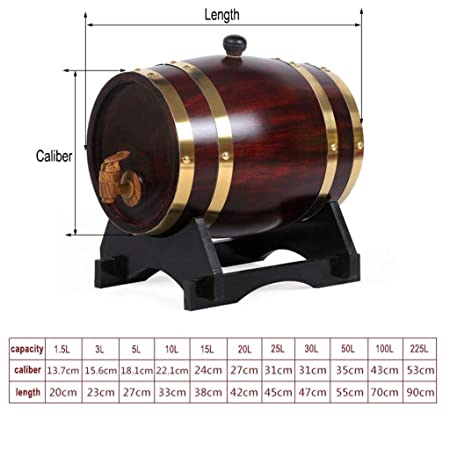 Jolly (1.5/3/5 / 10Liter Home Whisky Barrel Dispenser para ...