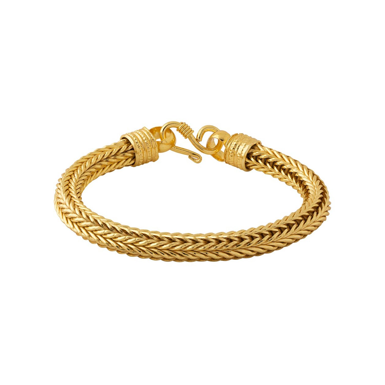 c5b5a2d93eb Voylla Voylla Designer Gold Plated Charm Bracelet for Men (Golden)  (8907617099019): Voylla Designer: Amazon.in: Jewellery