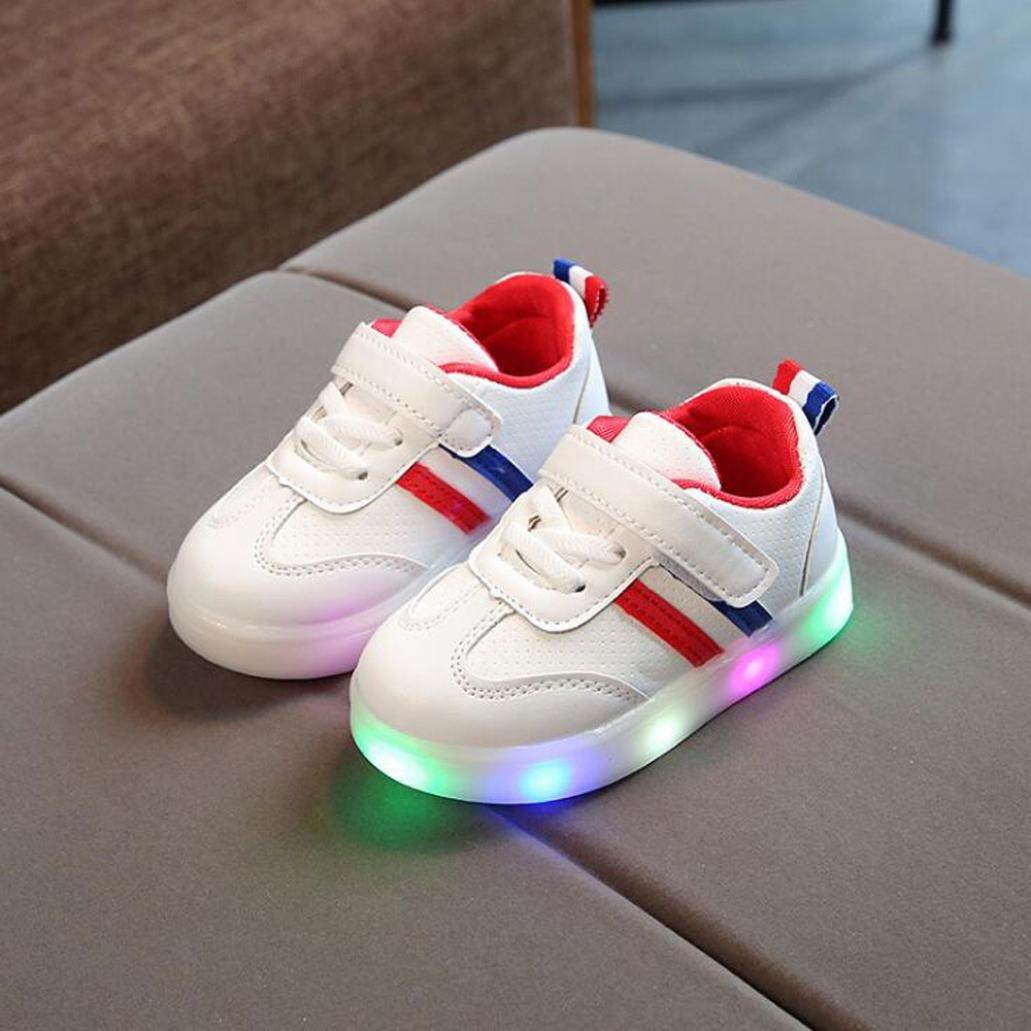 new style ebdaa 1fcb2 Schuhe FNKDOR Baby Kleinkind Kinder LED Leuchtschuhe Weiß ...