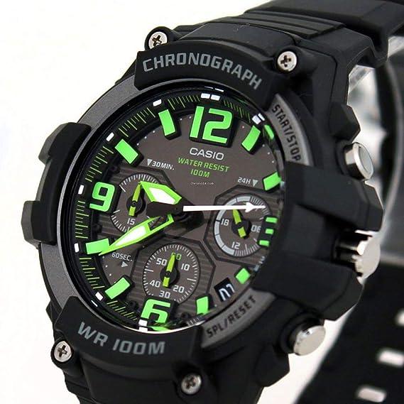 Casio Reloj Analogico para Hombre de Cuarzo con Correa en Resina MCW-100H-9AVEF: Casio: Amazon.es: Relojes