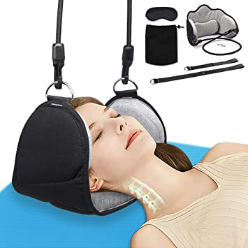 Head Hammock Traction Massager Cervical Tool Posture Neck Pain Relief Relax DE