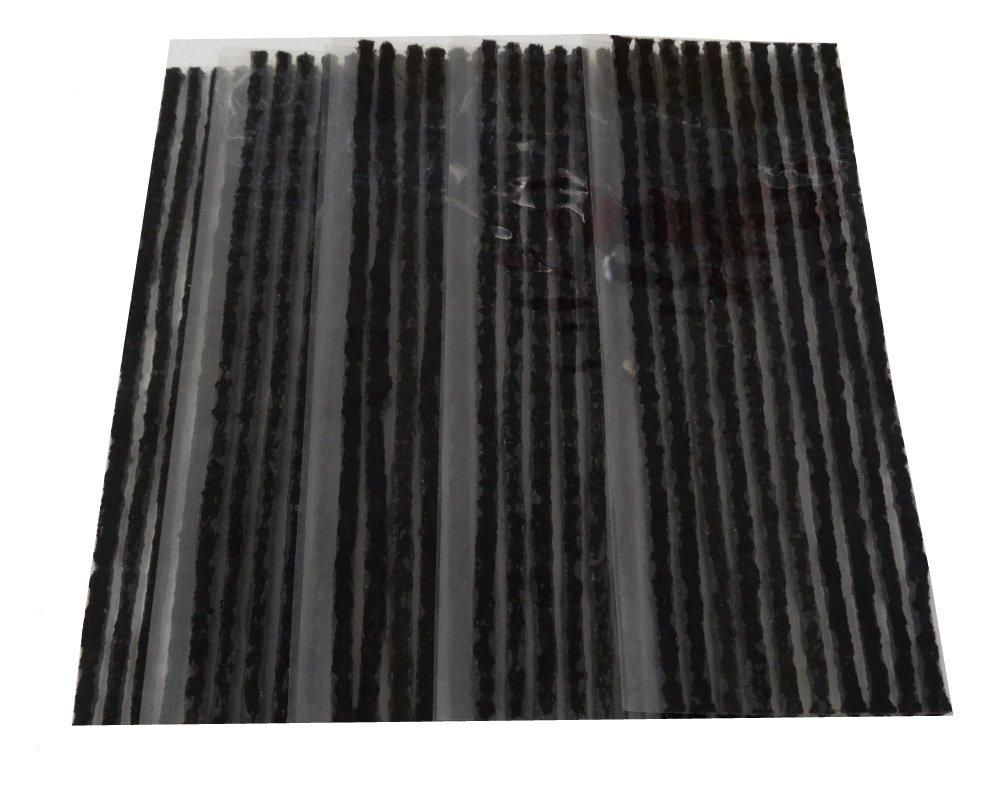 Aerzetix - 20 x strisce 4mm kit riparazione foratura ripara gomme pneumatici tubeless auto moto lunghe 50cm. 3800946171607