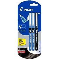 Pilot V5 Liquid Ink Roller Ball Pen - 2 Blue + 1 Black