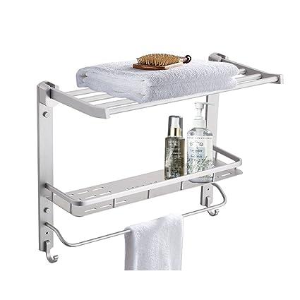 floating shelves bathroom storage