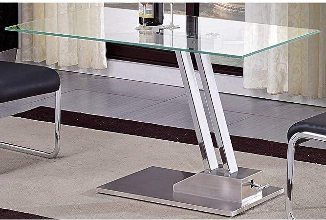 Inside Table Basse Relevable Step En Verre Transparente Structure
