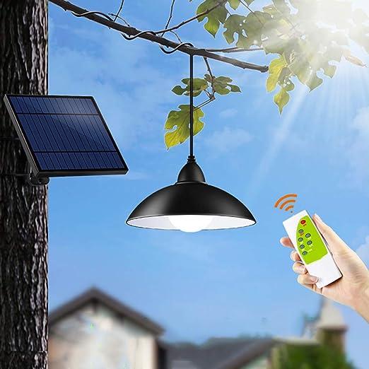 Lampe de camping à énergie solaire blanche 22 LED à télécommande suspendue FR