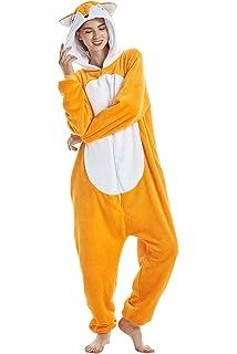 f601f2f75ac1e DecoBay Pyjama Cachemire Animal Femme Vêtements de Nuit Vêtements De Renard  Jaune