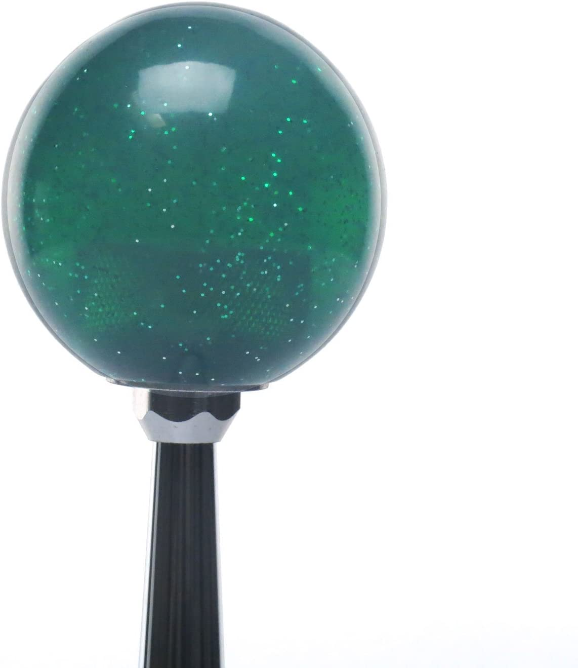Company Up in Flames Skull Green Metal Flake with M16 x 1.5 Insert American Shifter 284114 Shift Knob