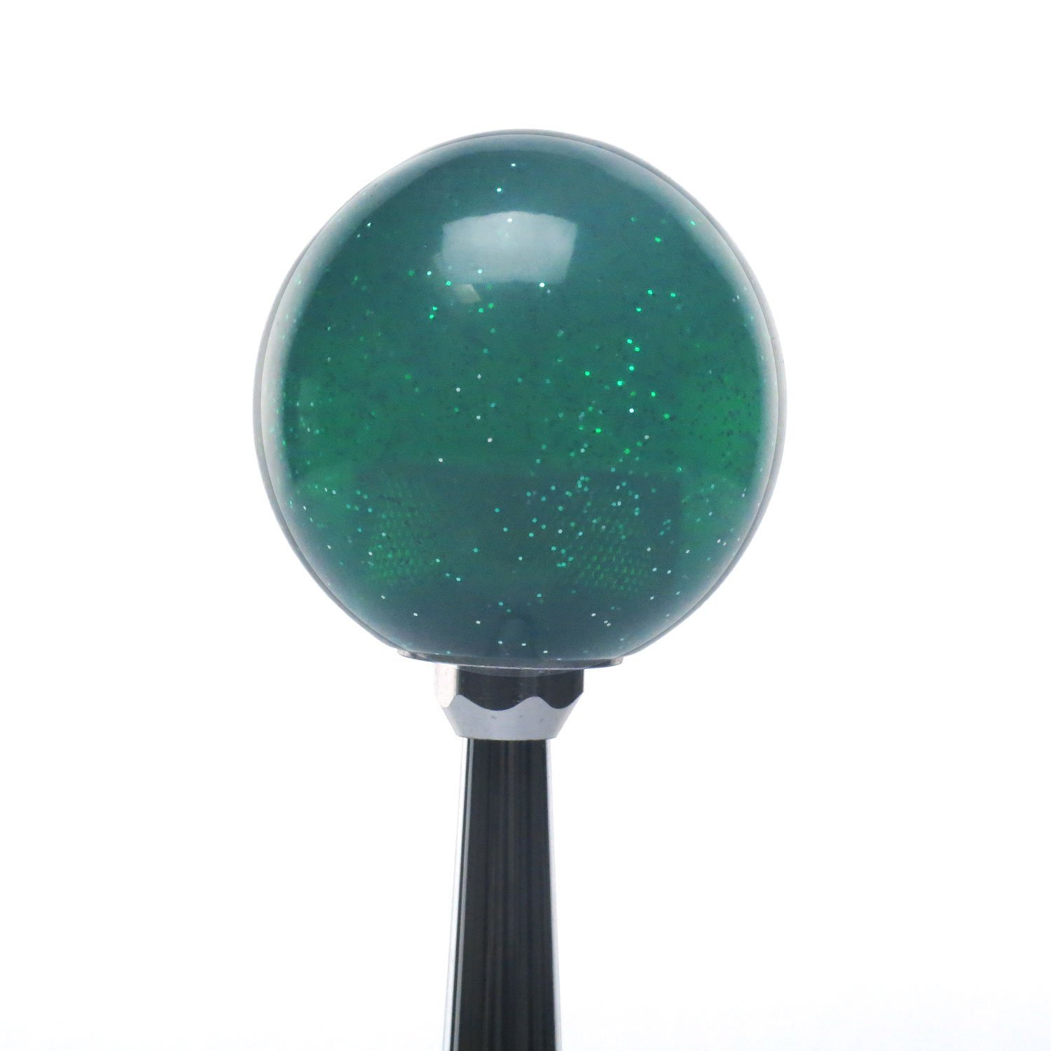 Green Cancer Green Metal Flake with M16 x 1.5 Insert American Shifter 283608 Shift Knob