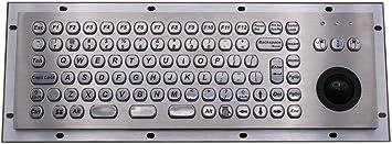 Teclado metálico ATM Teclado Metal Trackball Teclado Robusto ...