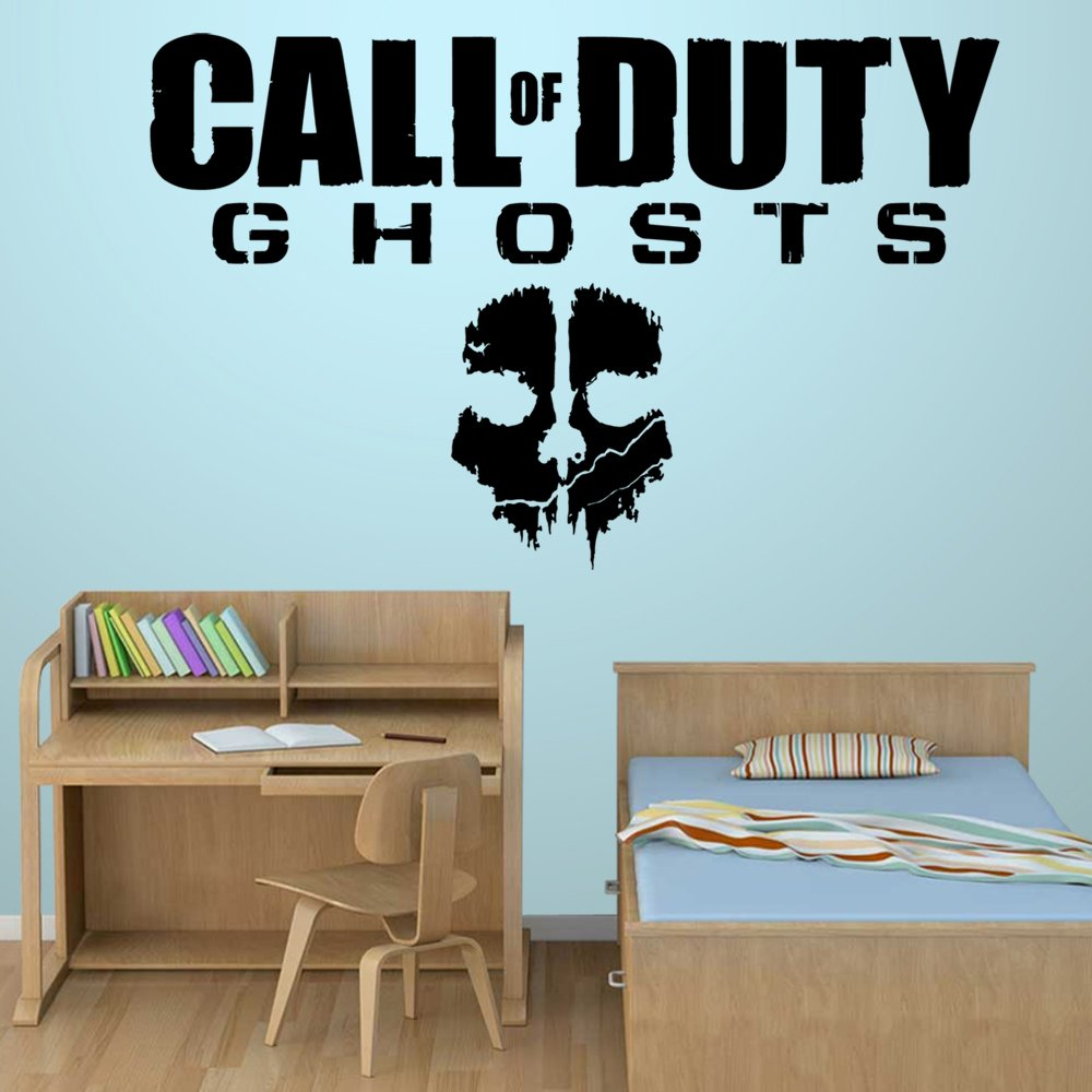 Call Of Duty Ghosts - Wall Decal Art Sticker boy's bedroom playroom hall (Color: White Size: Large) by Wondrous Wall Art