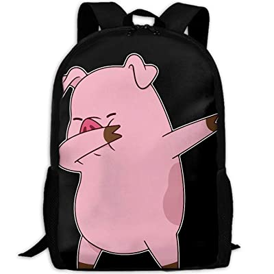Funny Pig Dabbing Fashion Outdoor Shoulders Bag Durable Travel Camping Backpack For Adult   Kids' Backpacks