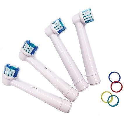 KongKay® 4 X Recambio para Cepillo eléctrico Compatible y en forma Braun  Oral-B 9f8d048263f8