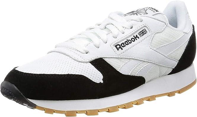 Ligero Último mañana  Reebok Classic Leather Split Blanco/Negro Cuero 35 EU: Amazon.es: Zapatos y  complementos