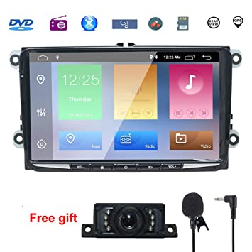 "9"" Reproductor Multimedia DVD 2 Din GPS Navegador Android 8.1 Quad Core con WIFI Bluetooth"