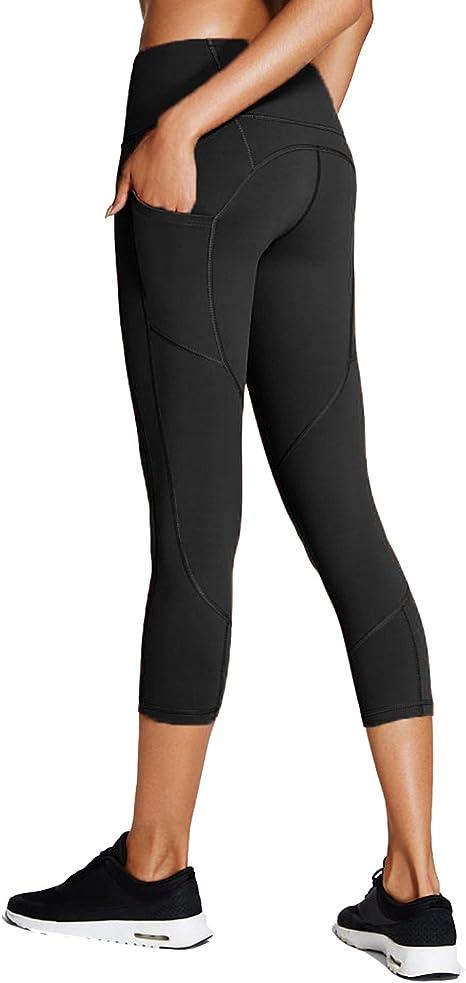 Sbra Mujeres Cintura Alta Corriendo Pantalones de Yoga Workout Leggings con Bolsillo Oculto