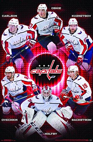 "Trends International Washington Capitals-Team Wall Poster, 22.375"" x 34"", Multi"