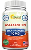 aSquared Nutrition Astaxanthin Supplement - Pure Natural Astaxanthin Pills from Haematococcus Pluvialis Extract - Max Strength 10mg - 120 Softgels