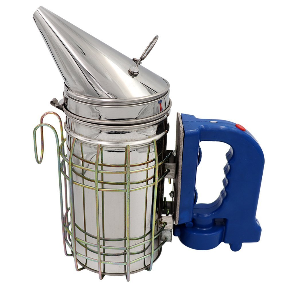 Farm & Ranch Electric Bee Hive Smoker for Beekeeper Stainless Steel with Heat Shield Beekeeping Equipment