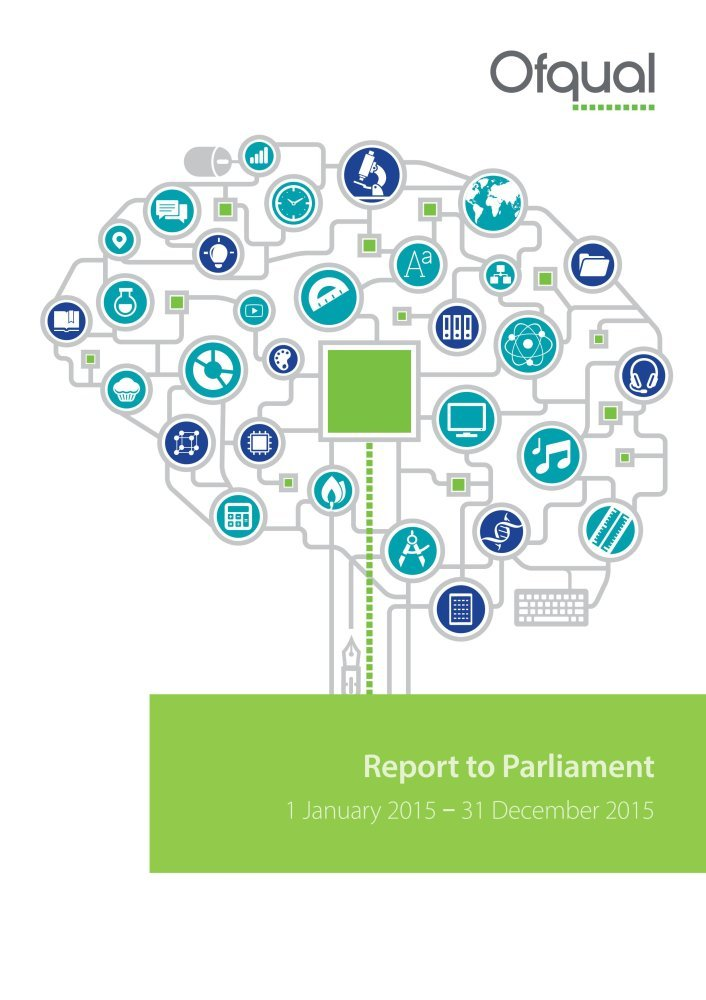 Office of Qualifications and Examinations Regulation (Ofqual): report to Parliament, 1 January 2015 - 31 December 2015 (House of Commons Papers) pdf epub