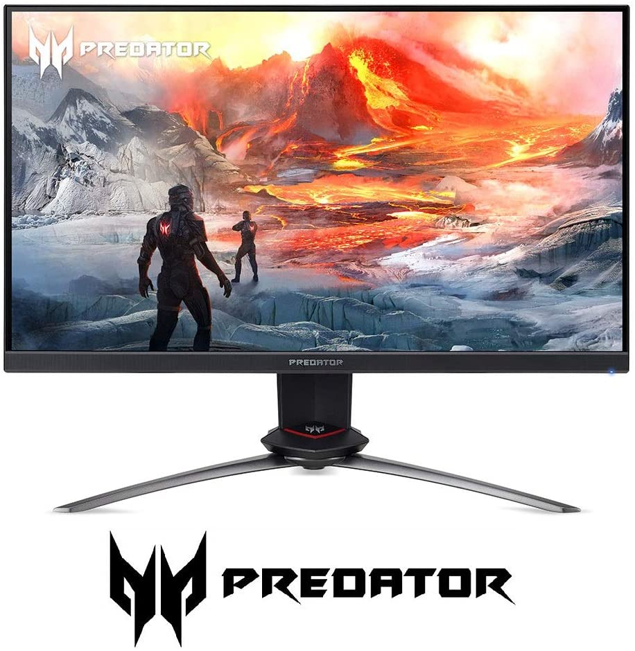 "Acer Predator XB253Q Gxbmiiprzx 24.5"" FHD (1920 x 1080) IPS NVIDIA G-SYNC Compatible Gaming Monitor, VESA Certified DisplayHDR400, Up to 0.5ms (G to G), 240Hz, 99% sRGB (1 x Display Port & 2 x HDMI)"