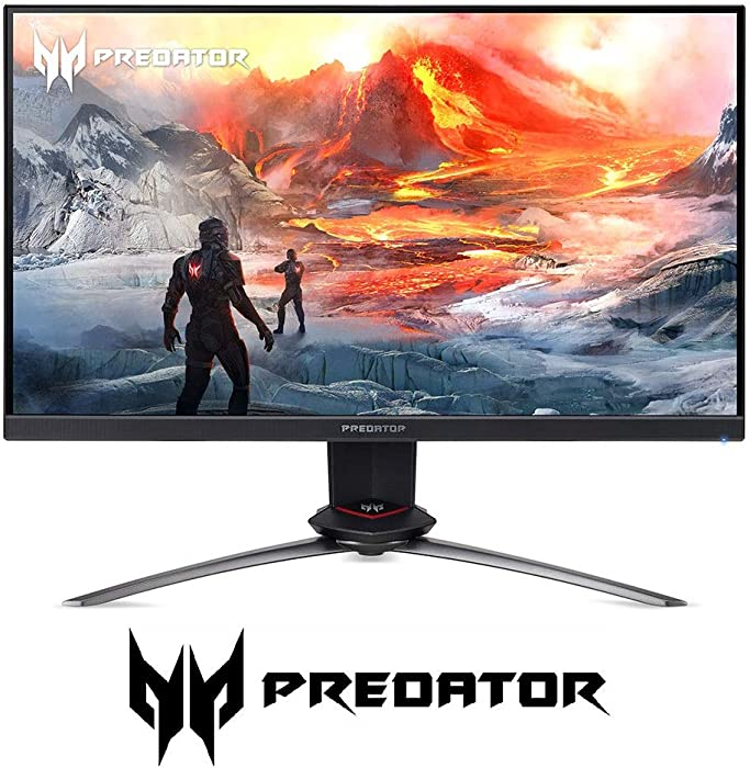 "Acer Predator XB253Q Gpbmiiprzx 24.5"" FHD (1920 x 1080) IPS NVIDIA G-SYNC Compatible Gaming Monitor, VESA Certified DisplayHDR400, Up to 0.9ms (G to G), 144Hz, 99% sRGB (1 x Display Port & 2 x HDMI)"