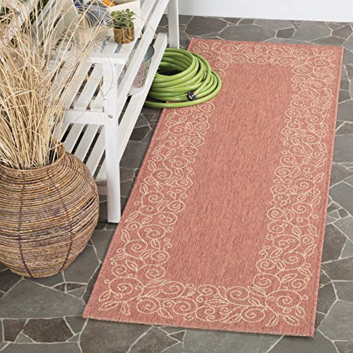 Safavieh Courtyard Collection CY5139A Terracotta and Beige Indoor/ Outdoor Runner (2'3