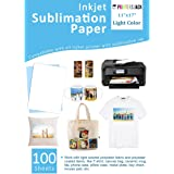"""Sublimation Paper 100 Sheets 11"""" x 17"""" for Any Epson Sawgrass Inkjet Printer with Sublimation Ink for T-shirt, Ceramic…"""