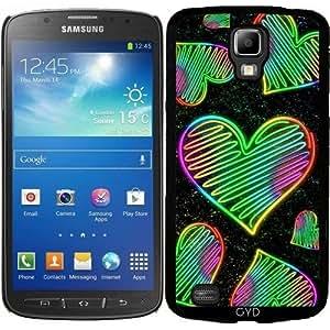 Funda para Samsung Galaxy S4 Active i9295 - Amor Del Corazón De Neón Colores Del Arco Iris by BluedarkArt