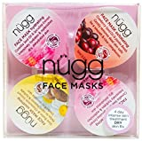 nügg 4 Day Moisturizing Face Mask Kit for Dry Skin: to Get Rid of Dry Spots and Intensely Hydrate and Moisturize Skin in just 4 Days; 4 Pack of Single Serve Pods (4 x 0.33 fl.oz.)