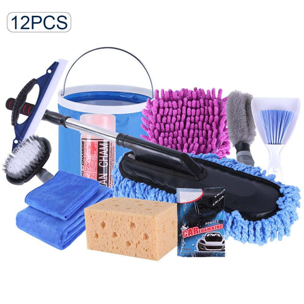 Car Cleaning Supplies >> Runnerequipment Car Cleaning Tools Kit 12pcs Car Wash Tools