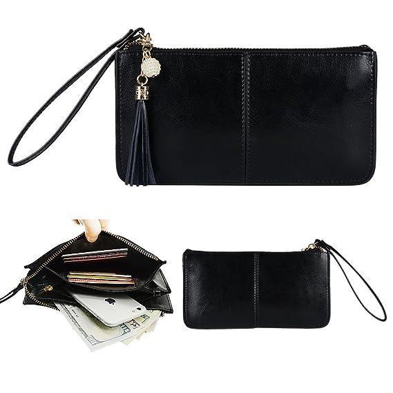 Smartphone zipper wallet, Befen Women Leather Zipper Wallet Case with  Credit Card Holder/Cash