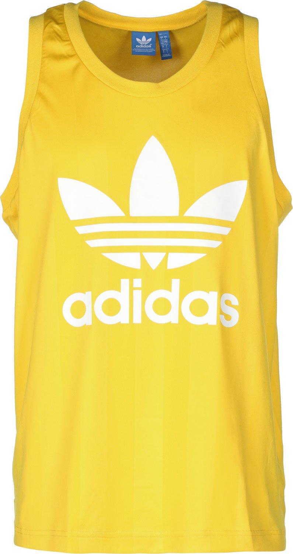 adidas – Camiseta de Tirantes Trefoil, Hombre, Tanktop Trefoil, EQT Yellow S16, Large: Amazon.es: Deportes y aire libre
